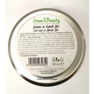 Greenatural Burro di Karite Bio con Olio di Argan bio