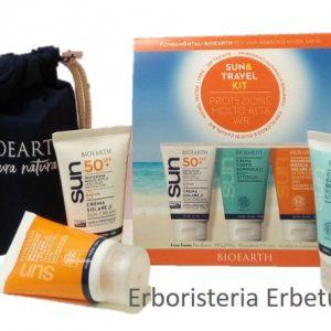 bioearth-sun-solari-kit-sun&travel-spf50+-solare-doposole-shampoodoccia-erbetue-erboristeria-modena