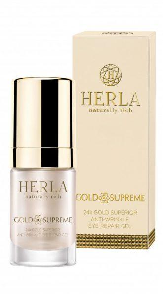 herla gold supreme 24k gel contorno occhi riparatore