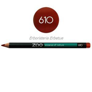 zao 610 matita occhi labbra sopracciglia rosso ramato