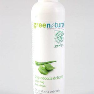 greenatural bagnodoccia delicato aloe 250ml